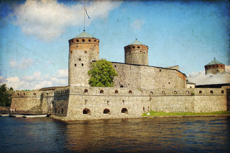Olavinlinna Castle in Savonlinna in Central Finland
