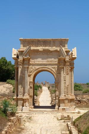 severus: Beautiful view of Arch of Septimus Severus, Leptis Magna, Libya