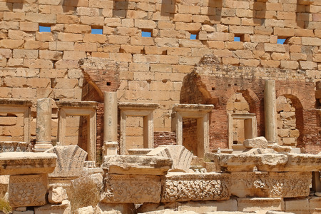severus: Libya Tripoli, Leptis Magna,  Roman City, UNESCO World Heritage Site
