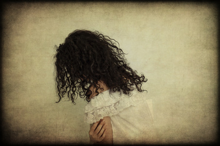 antiqued: Woman Stock Photo