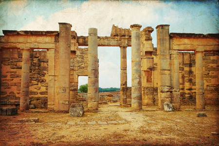 archaeological site: Beautiful views of the archaeological site of Cyrene in Libya Stock Photo