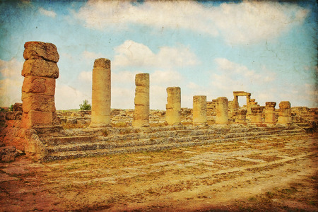 Beautiful views of the archaeological site of Cyrene in Libya photo