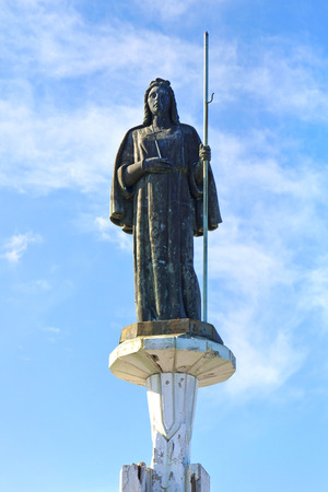 santa rosalia: Statue of Saint Rosalia in Monte Pellegrino, Palermo. Sicily Stock Photo