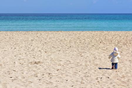 Relax on the beach, springtime in Mondello, Palermo, Sicily
