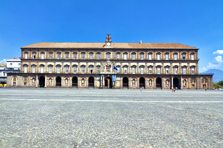 Royal Palace in Naples, Piazza del Plebiscito, Italy