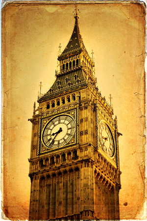 Houses of Parliament and Big Ben in Westminster, London. Stock Photo