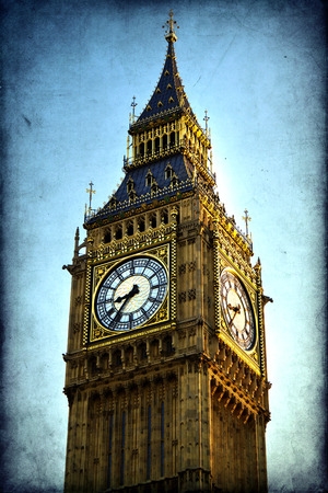 Houses of Parliament and Big Ben in Westminster, London. photo