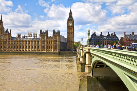 LONDON, JULY 28, 2010: Houses of Parliament and Big Ben in Westminster, London.