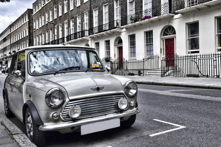 Classic British car on the streets of London Editorial