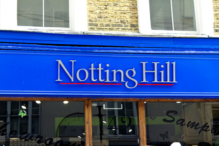 LONDON, July 31, 2010: Sign in the entrance area of Portobello, London