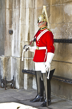 LONDON, JULY 28, 2010: Guard royal in Buckingham Palace, London, UK