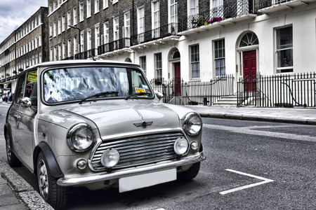 cooper: Classic British car on the streets of London Editorial