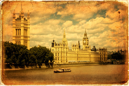 bigben: Houses of Parliament and Big Ben in Westminster, London. Editorial