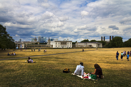 greenwich: A panoramic shot taken from the Greenwich Observatory in London