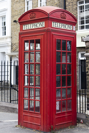 coven: Traditional old style UK red phone boxes in London Stock Photo