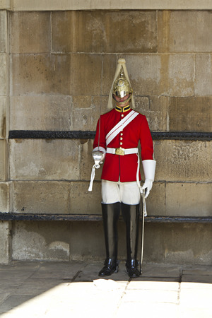 Guard royal in Buckingham Palace, London, UK
