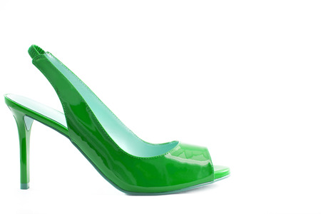 Green shoes isolated on a white background photo
