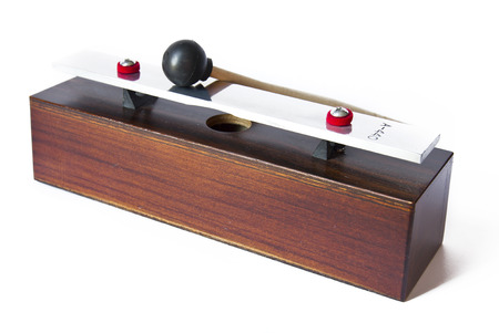 tact: Wooden metronome music timer on the white background