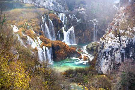 Adembenemend uitzicht in het Plitvice Lakes National Park, Kroatië