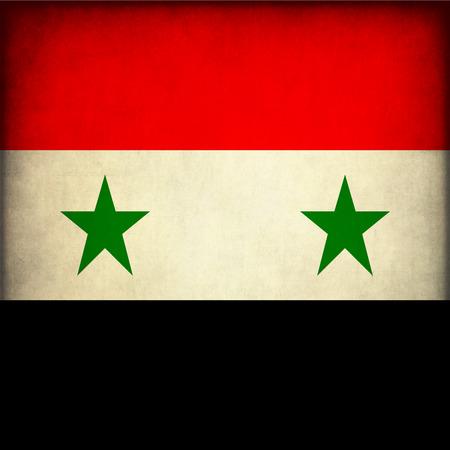 Vintage style. Grunge Flag of Syria photo