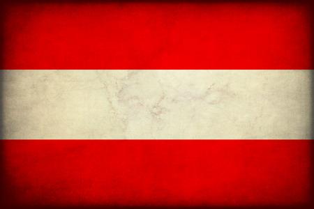 Vintage style. Austria grunge flag Standard-Bild