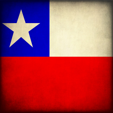 bandera chile: Estilo vintage. Chile flag grunge