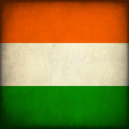 Vintage style. India Grunge Flag Stock Photo