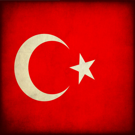 Vintage style. Turkey grunge flag photo