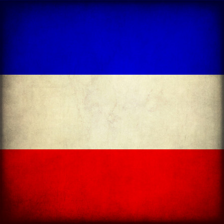 yugoslavia federal republic: Vintage style. Grungy Flag of the former Socialist Federal Republic of Yugoslavia