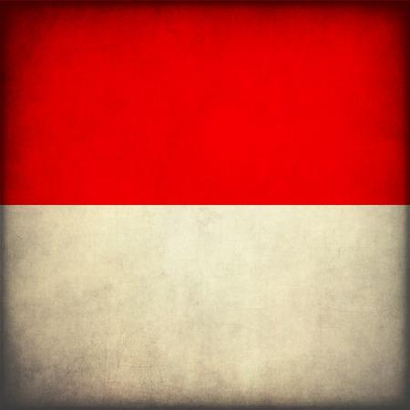 Vintage style. Grunge Flag of Indonesia photo