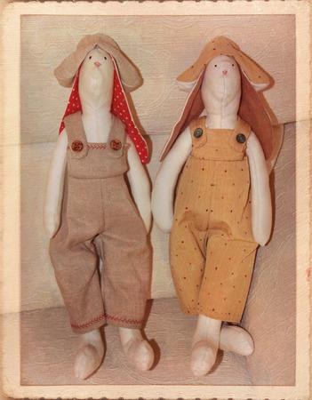 Snowmen fabric - Christmas decorations photo
