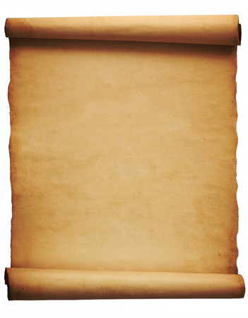 old letters: Old vintage parchment isolated on white background