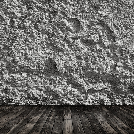Room with wooden floor and grunge wall photo