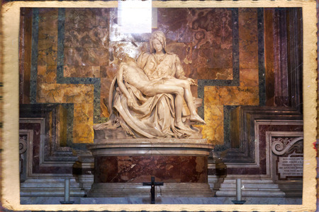Michelangelos Pieta in St. Peters Basilica in Rome