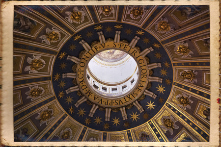 st  peter's square: St. Peters Basilica, St. Peters Square, Vatican City. Indoor interior.