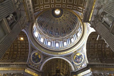 St. Peters Basilica, St. Peters Square, Vatican City. Indoor interior.