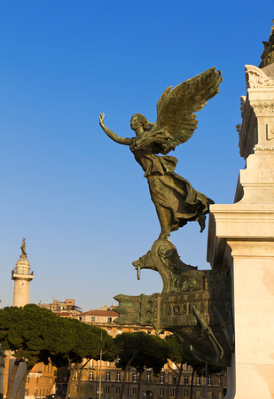 emmanuel: National monument to Vittorio Emanuele II (Victor Emmanuel II) or Altare della Patria (Altar of the Fatherland), Rome, Italy