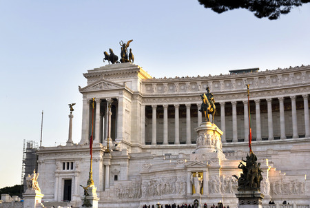 altar of fatherland: National monument to Vittorio Emanuele II (Victor Emmanuel II) or Altare della Patria (Altar of the Fatherland), Rome, Italy