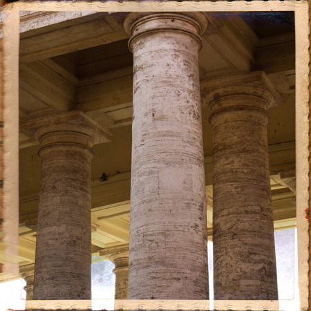 st  peter's square: St. Peters Basilica, St. Peters Square, Vatican City. Rome  Stock Photo