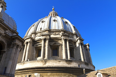 st  peter's square: St. Peters Basilica, St. Peters Square, Vatican City. Rome  Editorial