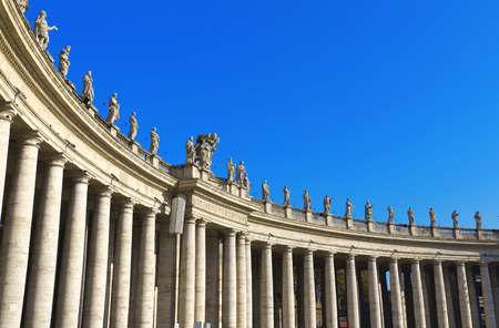 st  peter: St. Peters Basilica, St. Peters Square, Vatican City. Rome  Editorial