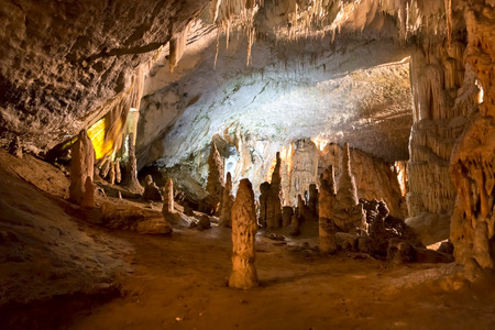 Postojna grotte in Slovenia Banque d'images