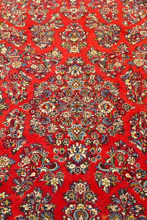 oriental rug: Oriental Persian Carpet. Detail. Texture Stock Photo