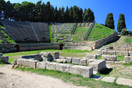 archaeological: Archaeological Site of Tindarys, Sicily Stock Photo