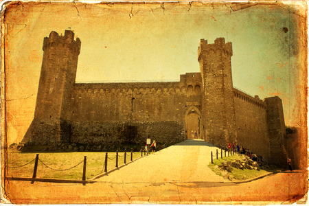 montalcino: Montalcino Castle in Tuscany, Italy