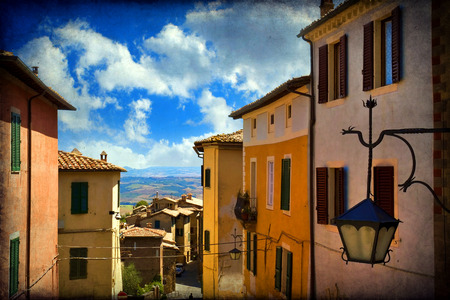 montalcino: View from the city walls of Montalcino