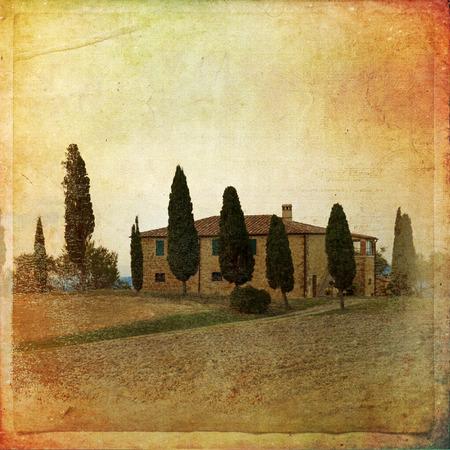 The landscape of the Tuscany. Italy   Stock Photo