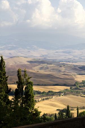 agriturismo: Pienza, Tuscany, Italy. Landscape Stock Photo