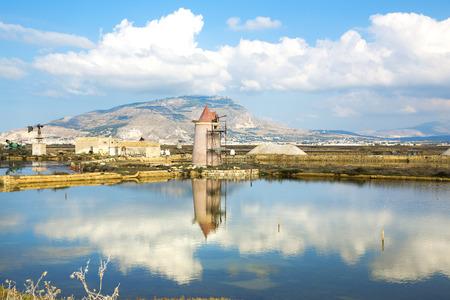 Beautiful view of the Saline, Trapani, Sicily photo