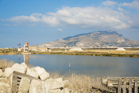 Beautiful view of the Saline, Trapani, Sicily photo